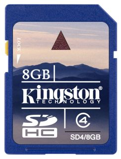 Kingston 8GB Secure Digital Card SD SDHC Flash Memory Camera Photo GPS