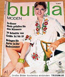 Burda ModenSommer Mode Mai 1970 , Schnittmuster