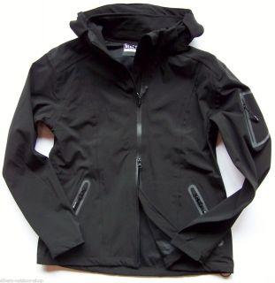 Funktionelle Damen Softshell Jacke, wasserdicht, Farbe Schwarz