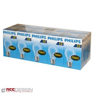 10 x Philips Glühbirne 75W E27 klar Glühlampe 75 Watt Glühbirnen