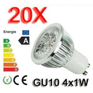 20x HIGH POWER LED SPOT 4W LAMPE Strahler Licht WARMWEISS GU10 4X1W