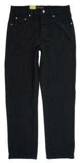 New Mens Boston Regular Fit Black Denim Jeans All Sizes