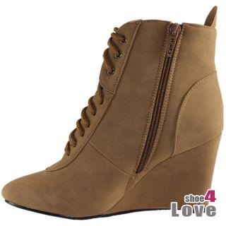 Neu 941 Top Damen Stiefeletten Keilabsatz/Wedge Sale 3 Farben Angebot