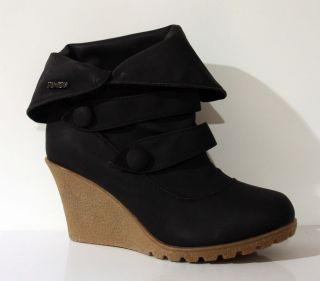 Design Damen Schuhe Keilabsatz Stiefeletten 937 stiefel Neu