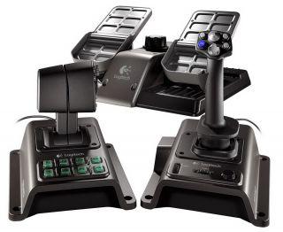 mandos simulador de vuelo Logitech Flight System G940 con controles