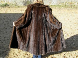 FULL LENGTH LUNARAINE BROWN MINK FUR CANADA MAJESTIC COAT JACKET M L
