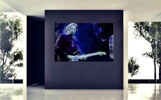 ERIC CLAPTON MIT BLACKIE BILD AUF LEINWAND,FENDER STRATOCASTER,120cm x