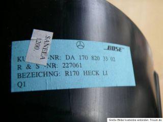 Mercedes Benz SLK 170 BOSE Lautsprecher hinten links A1708203302 #B