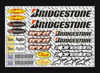 Motocross Aufkleber Bogen   Sponsor Sticker Set