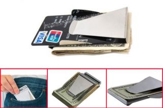 2012 Hot Newest Slim Money Clip Double Sided Credit Card Holder Wallet