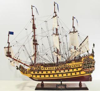 Holz Schiffsmodell Le Soleil Royal, 74CM Modellschiff