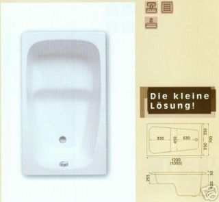Acryl Badewanne, Sitzbadewanne Mini 120 x 70 cm, neu