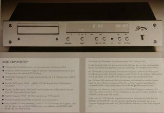 Erstklassig BURMESTER 939 CD Player in Chrom mit System Fernbedienung