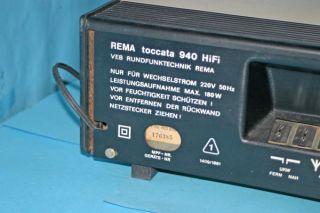 Rema Toccata 940 HIFI RFT Tuner Radio Receiver DDR generalüberholt