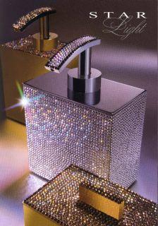 Windisch 90513 Luxus Seifenspender Swarovski Kristalle Chrom Gold