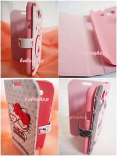 10 Styles Hello Kitty Cute Leather Flip Case Cover for Samsung Galaxy