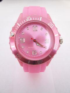 Bunte Silikon Armbanduhr Herrenuhr Damenuhr Big & Small Face Watch