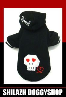 Hundepullover SKULL S nero Pullover Hoodie Chihuahua Yorkshire Terrier