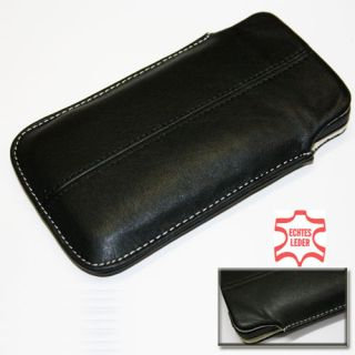 ECHTES LEDER LG P970 Optimus Black Handy Tasche Leather Case Hülle