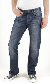 Cross Jeans Hose Antonio E160 118, blue spot crincle