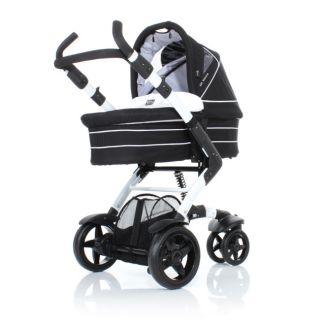 ABC Design 3 Tec white black Kombi Kinderwagen mit Tragewanne Des 2013