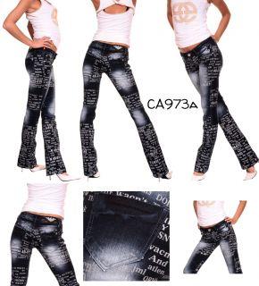 Crazy Age Damen Jeans Designer Bootcut Jeans Hose Hüftjeans 34 36 38