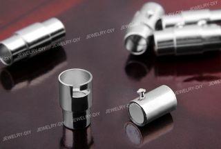 Metall Verschluss Magnetverschluss Zylinder Silber Fa CHARMS