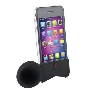 Colorful Cute Portable Silicone Horn Stand Amplifier Speaker For