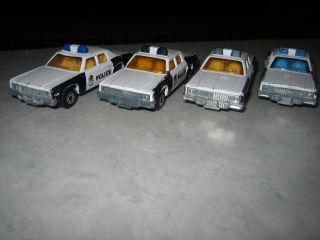 MATCHBOX #10 PLYMOUTH GRAN FURY LESNEY 1979 SUPERFAST POLICE CAR LOT