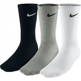 Non Cushioned (3 pair) Crew Cotton Training Socks SX3809 965