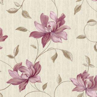 Pink / Brown / Cream   511024   Floral   Belissima   Elegance   Rasch