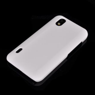 Hard Rubber Schale Case Hülle Cover + Folie für LG Optimus Black