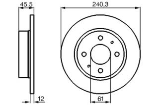 2x Bremsscheiben BOSCH 0 986 478 368 NISSAN SUNNY II (N13) 1.6 i 12V