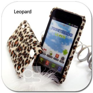 Leopard Velvet Hard Cover Case LG Optimus Black P970