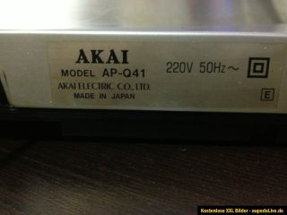 AKAI AP Q41 Alu Silber auto.Turntable direct drive Arm transport 1A