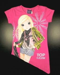 TOP MODEL T SHIRT pink LONGSHIRT asymmetrisch Gr.152/ 12 years STAR
