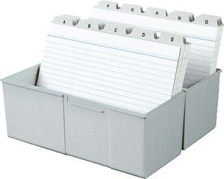 HAN Karteibox DIN A5 quer/975 11 lichtgrau Kunststoff Karteikasten