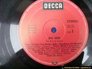 THE ROLLING STONES ♫ BIG HITS ♫ seltene TXS101 DECCA 1966 LP vinyl