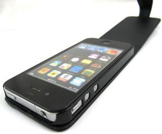 Leder Tasche Hülle Etui Cover für Apple iPhone 4 4G 4S