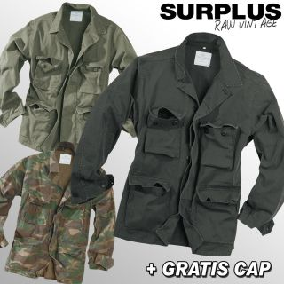 SURPLUS RAW BDU JACKE FIELD JACKET S XXL + Gratis Cap