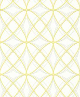 Rasch Tapete Chorus Line 2014 469530 Ellipsen weiß gelb 3,22 €/m²