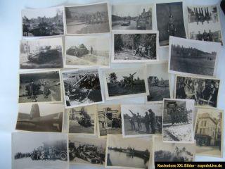 Lot von 109 orig. Fotos, 2.WK, Soldaten, Artillerie, Panzer, Flak
