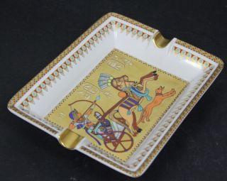 KAISER Porzellan Aschenbecher Theben Tut Ench Amun Nr. 988