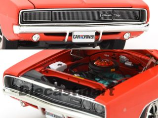18 1968 DODGE CHARGER 383 4SPD AMM 988 CAR & DRIVER DIECAST CAR RED