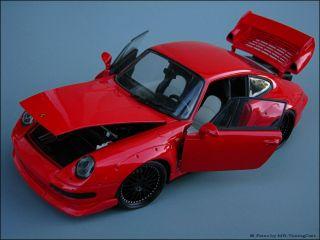 18 Tuning UT Porsche 911 993 GT2 ROT + SW Eloxierte Echtalus + OVP