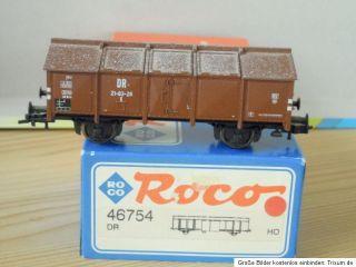 ROCO 46754 Klappdeckelwagen gealtert braun DR Ep.3 mit KKK,wie neu in