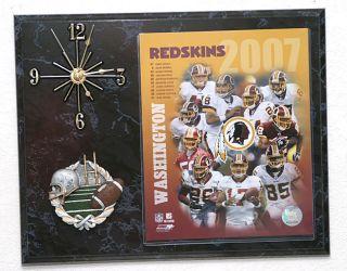2007 Washington Redskins Team Picture Clock
