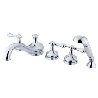 Kingston Brass KS33385AL Roman Tub Filler 5 Pieces With Hand Shower