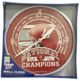 Alabama Crimson Tide Wall Clock   2009 National Champs 12