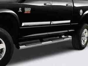 2009 Dodge Ram Chrome Side Steps Running Boards Quad